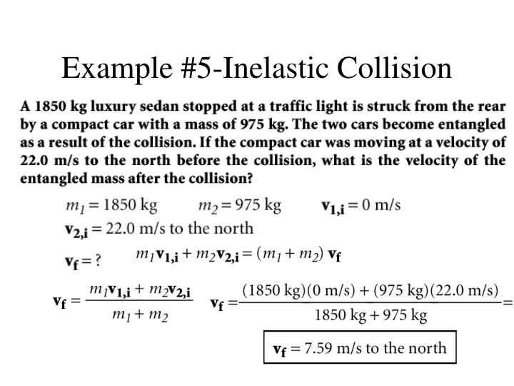 Example #5-Inelastic Collision
