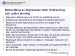 behandling av depression efter f rlossning och under amning