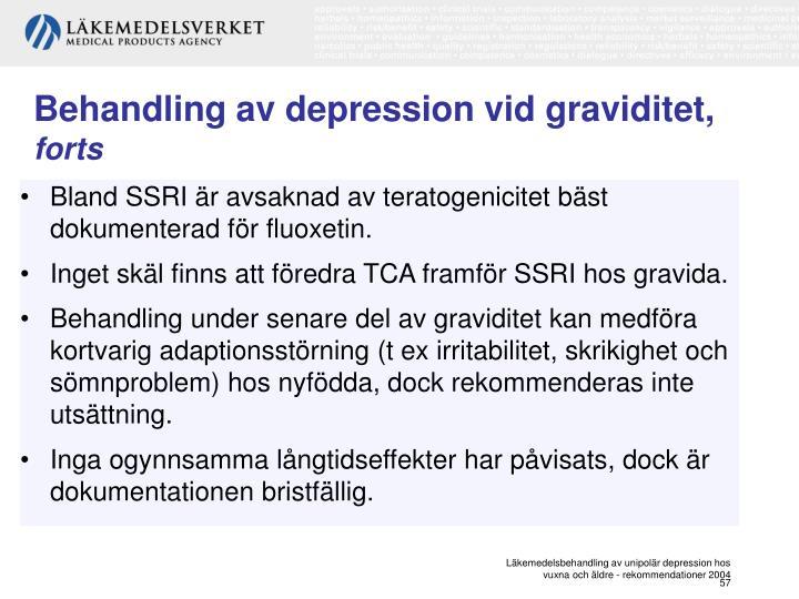 Behandling av depression vid graviditet,