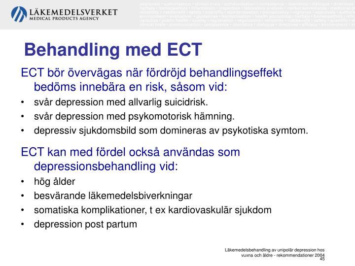 Behandling med ECT