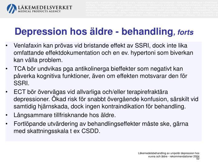 Depression hos äldre - behandling
