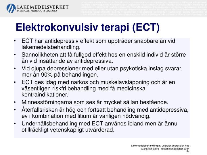 Elektrokonvulsiv terapi (ECT)