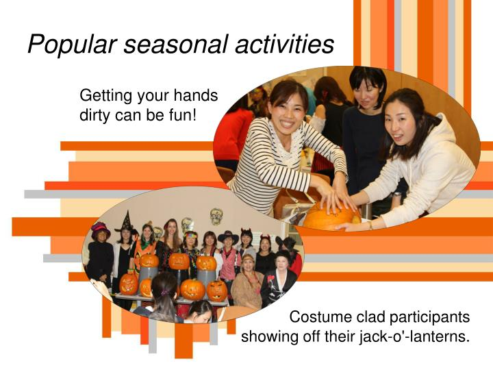 Popular seasonal activities
