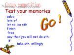 test your memories