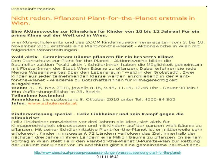 http://www.wienxtra.at/presse/presseaussendungen/presseaussendung-plant-for-the-planet/
