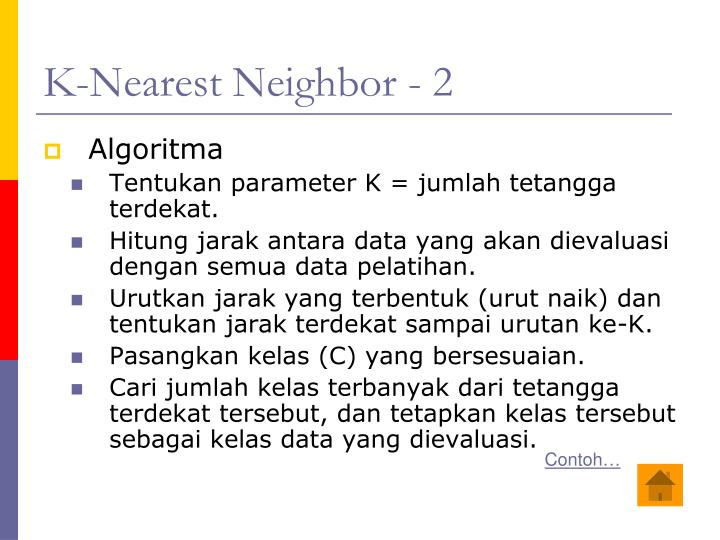 K-Nearest Neighbor - 2