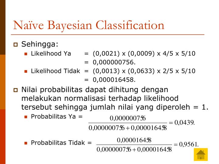 Naïve Bayesian Classification