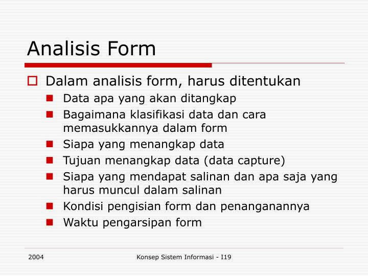 Analisis Form