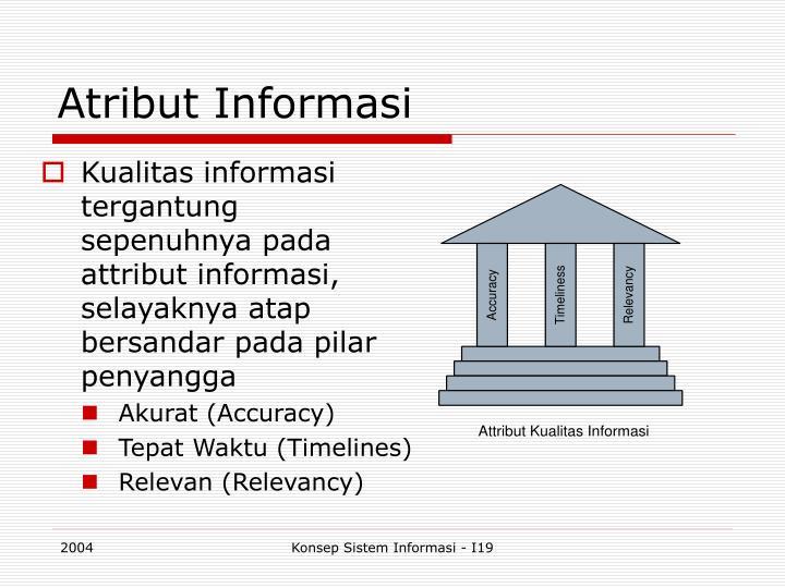 Atribut Informasi