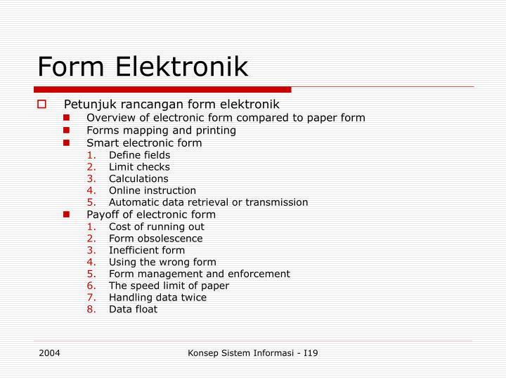 Form Elektronik