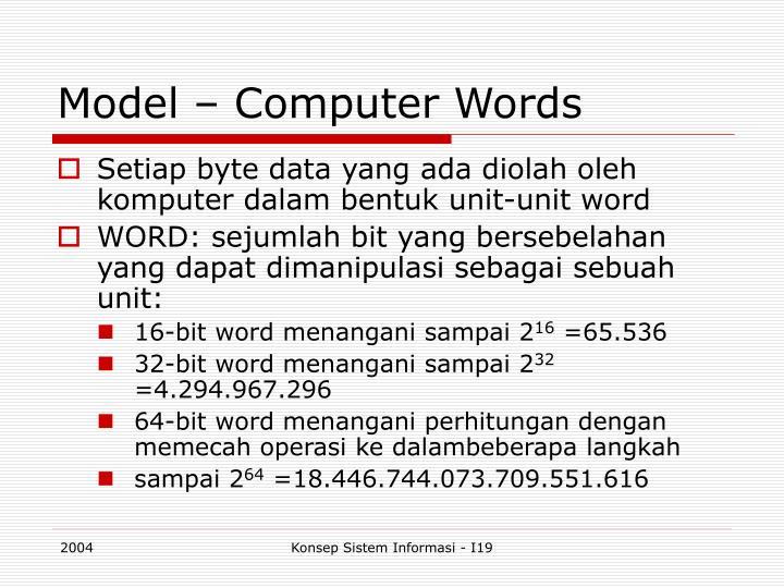 Model – Computer Words