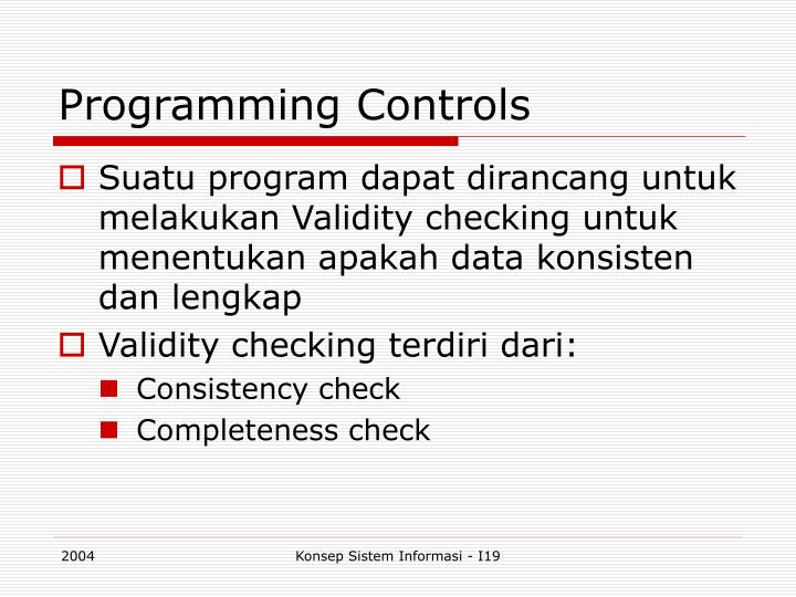 Programming Controls