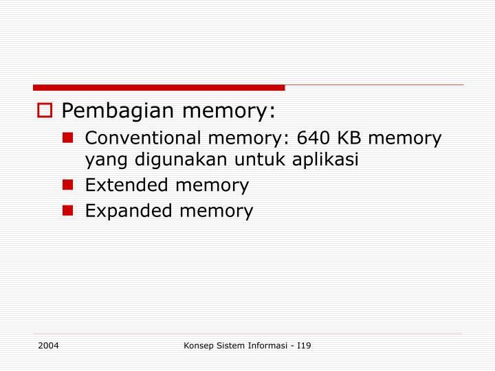 Pembagian memory:
