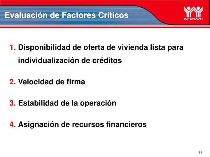 Evaluación de Factores Críticos