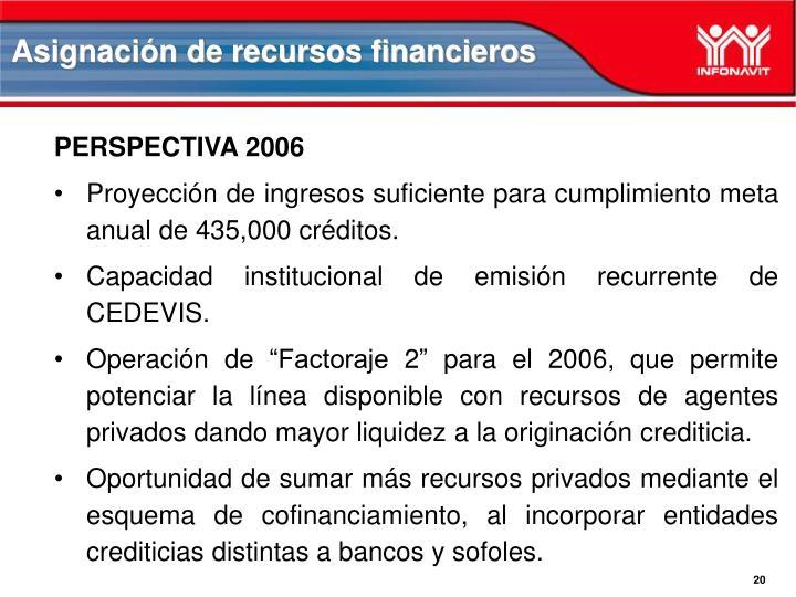 Asignación de recursos financieros