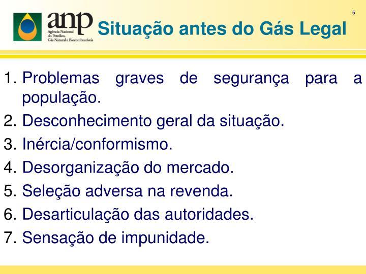 Situação antes do Gás Legal