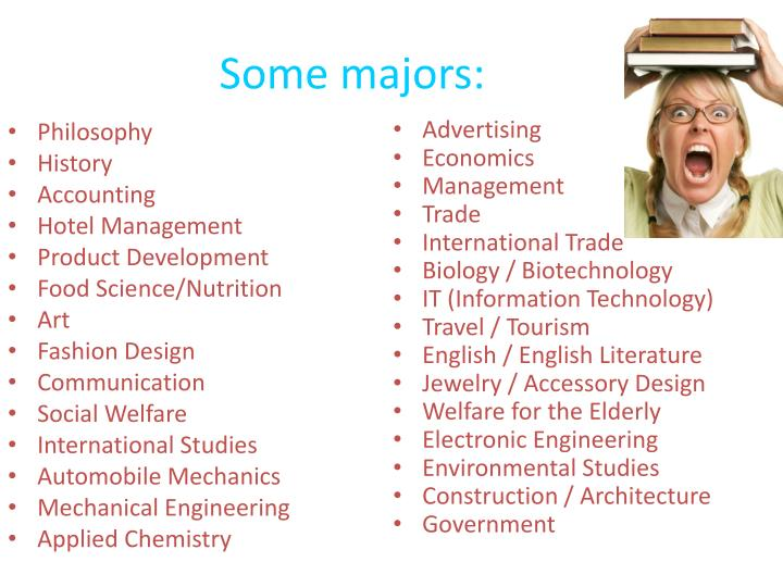 Some majors:
