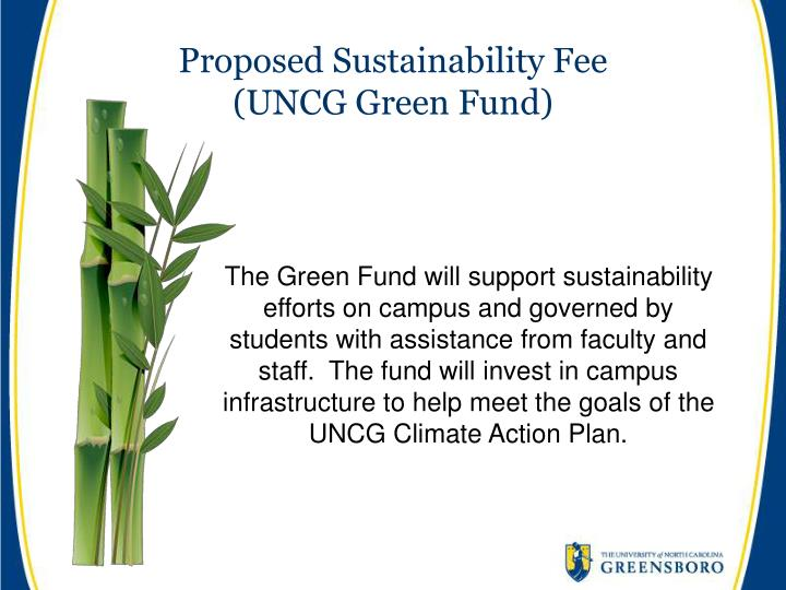 Proposed Sustainability Fee