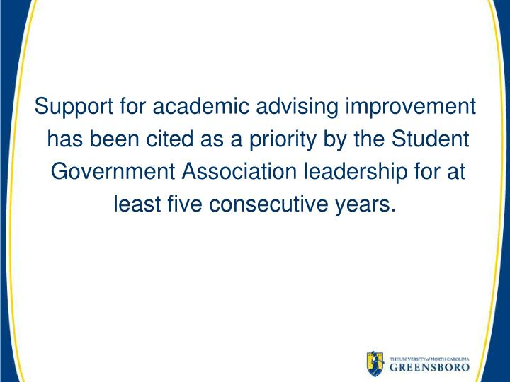 Support for academic advising improvement