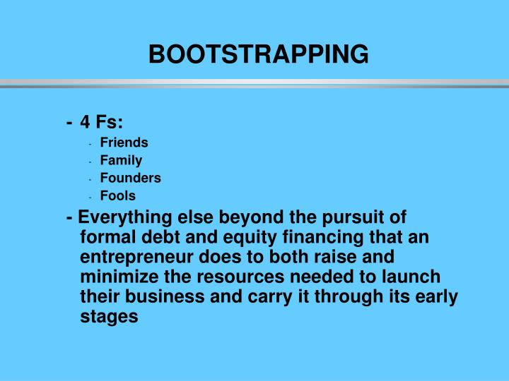 Boo bootstrapping
