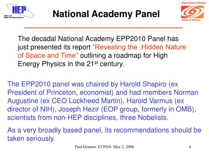 National Academy Panel