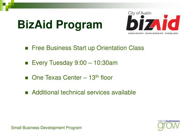 BizAid Program