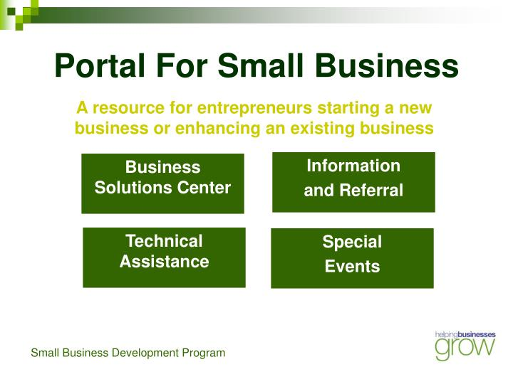 Portal For Small Business