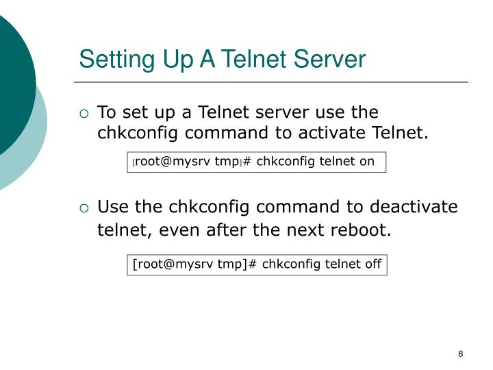 Setting Up A Telnet Server