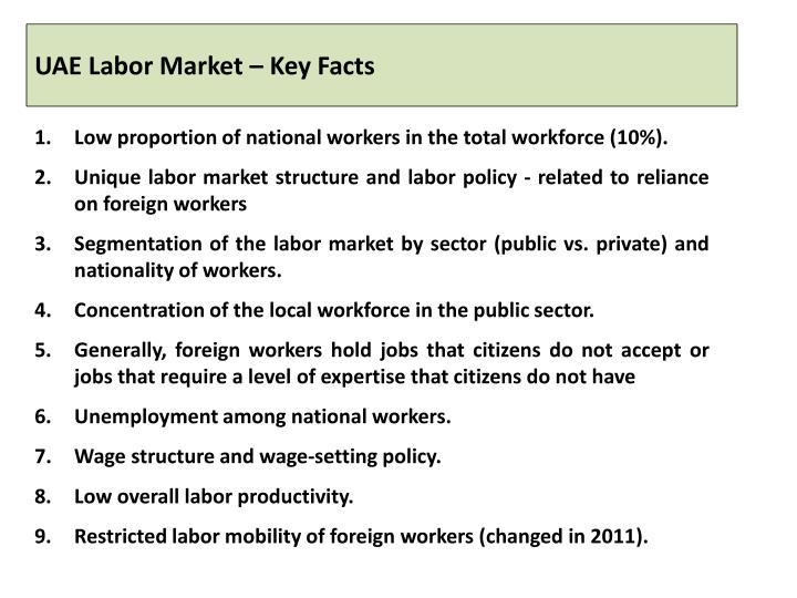 UAE Labor Market – Key Facts