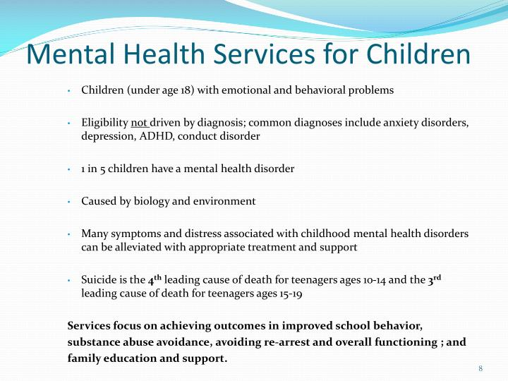 Mental Health Services for Children