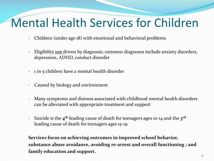 Mental Health Services for Children