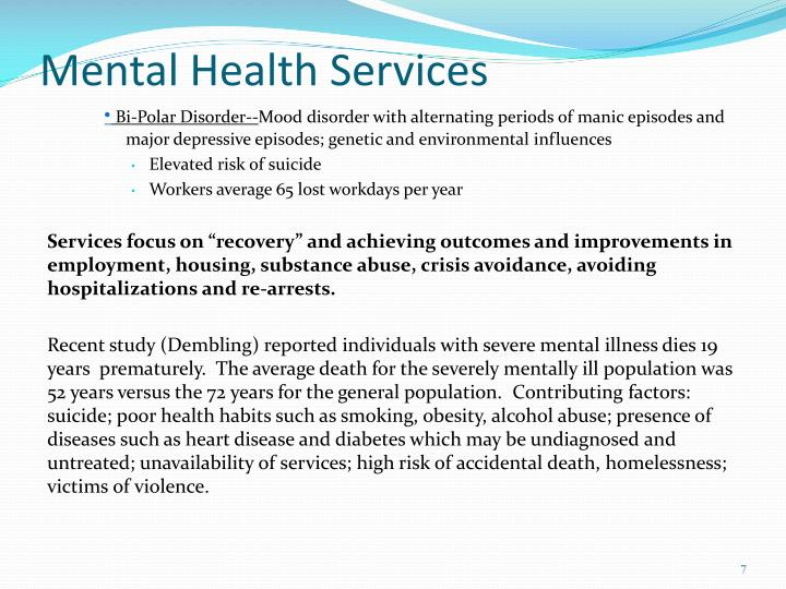 Mental Health Services