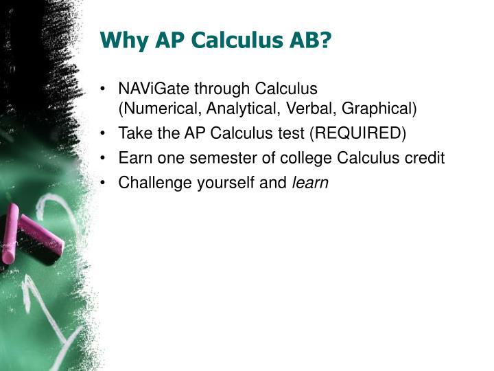 Why AP Calculus AB?