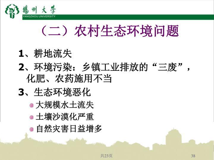 (二)农村生态环境问题