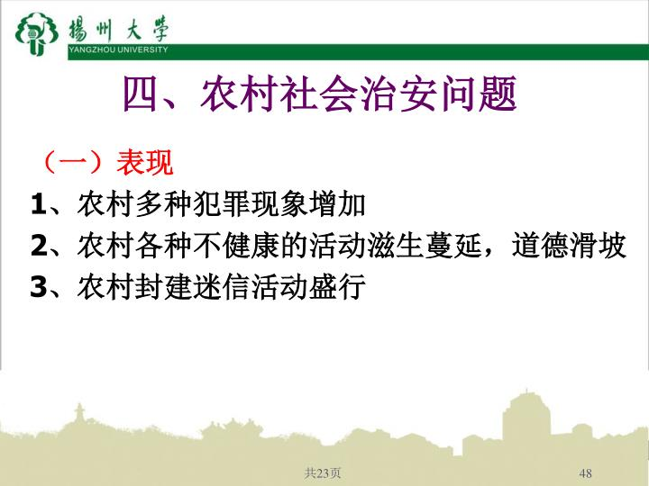 四、农村社会治安问题