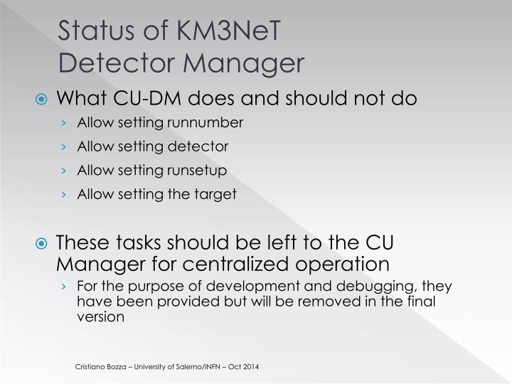 Status of KM3NeT