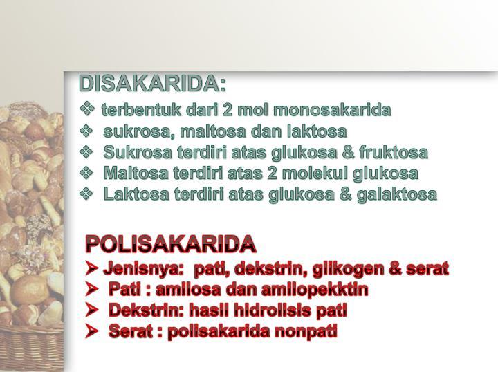 DISAKARIDA: