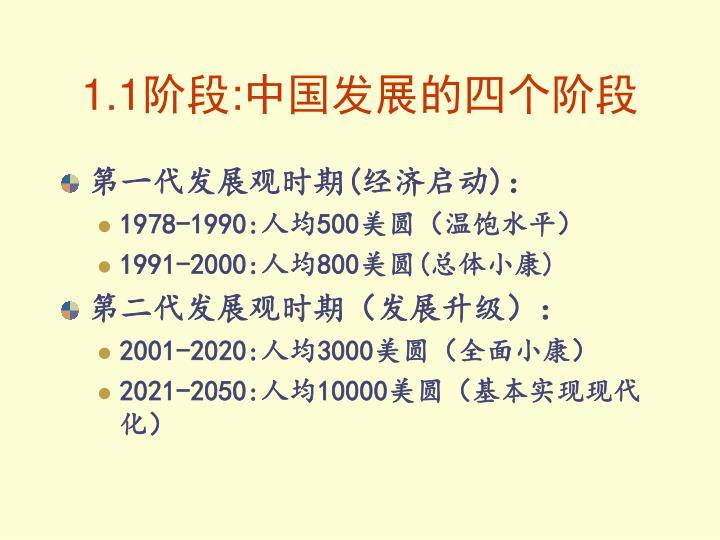 1.1阶段:中国发展的四个阶段