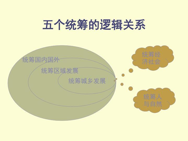 五个统筹的逻辑关系