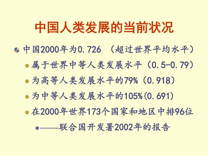 中国人类发展的当前状况