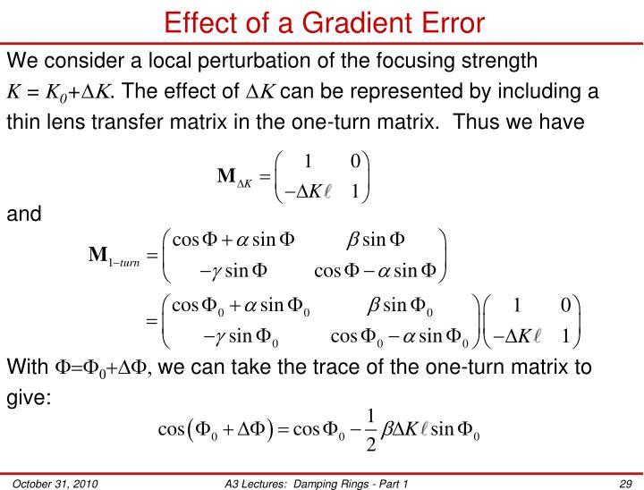 Effect of a Gradient Error