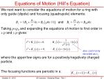 equations of motion hill s equation