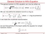 general solution to hill s equation