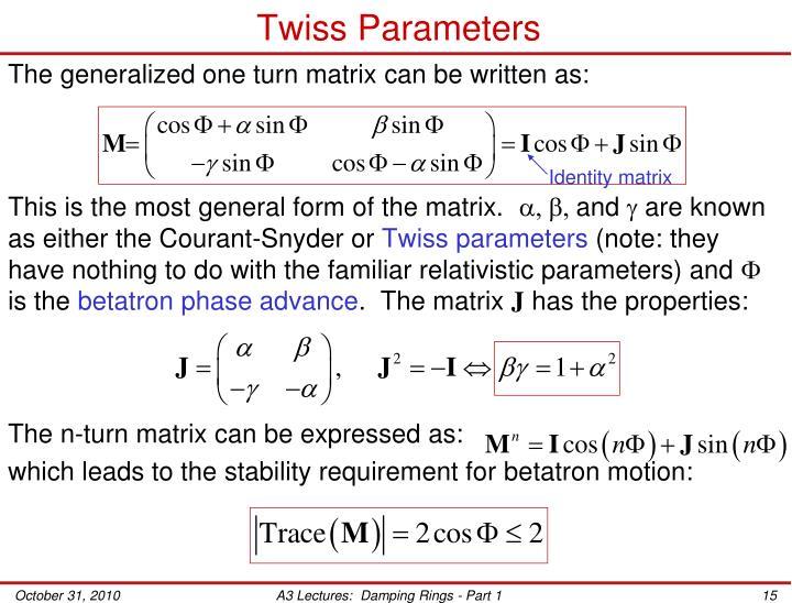 Twiss Parameters