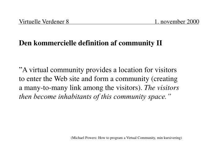 Virtuelle Verdener 8 1. november 2000