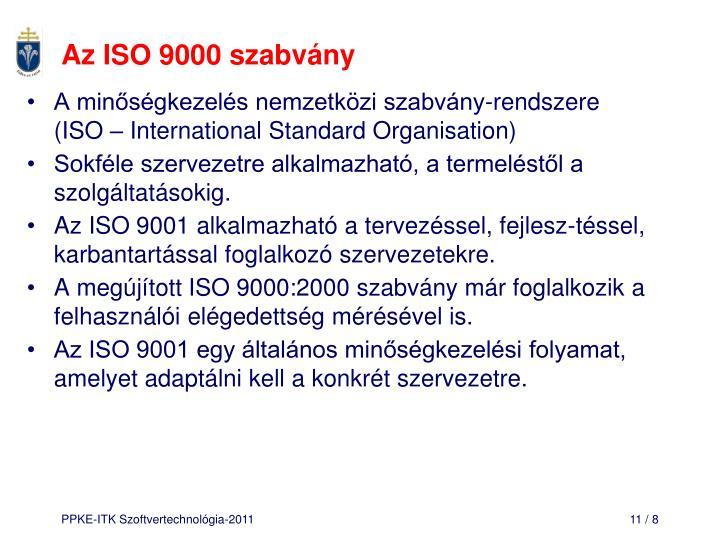 Az ISO 9000 szabvány