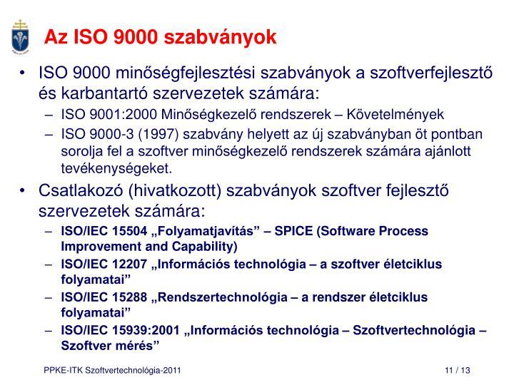 Az ISO 9000 szabványok
