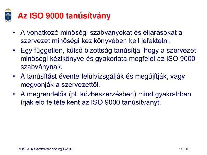 Az ISO 9000 tanúsítvány