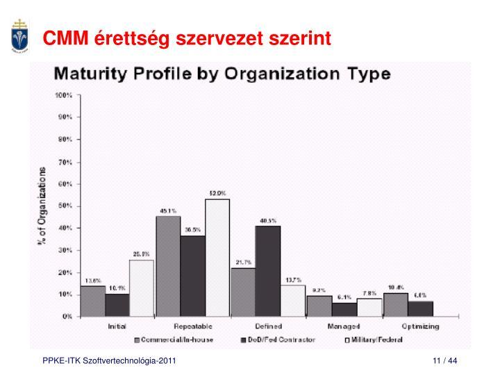 CMM érettség szervezet szerint