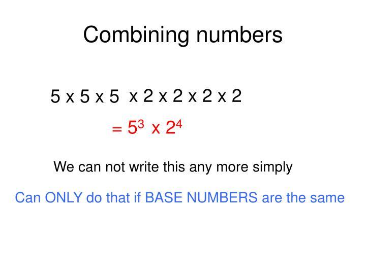 Combining numbers